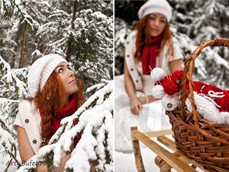 нашем примеры идей для зимней фотосессии много