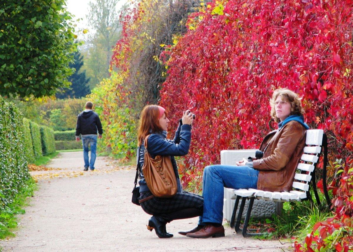 фото людей в парке