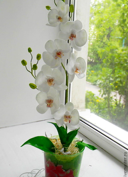 цветы из фоамирана орхидеи фото годами