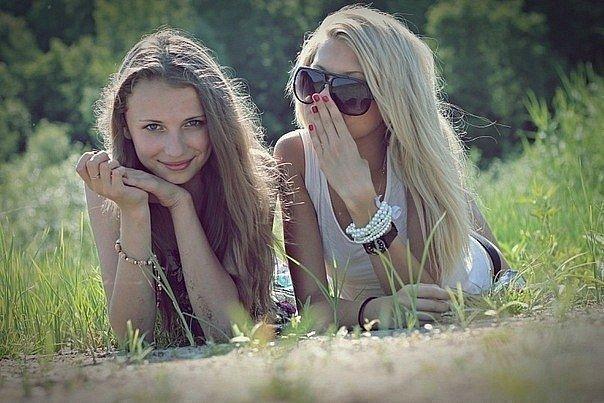 две подружки статус к фото очищают