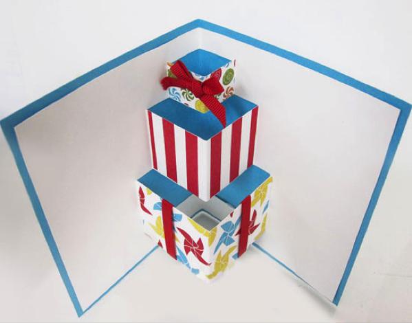 Для фотографии, открытка с тортом внутри на день рождения своими руками