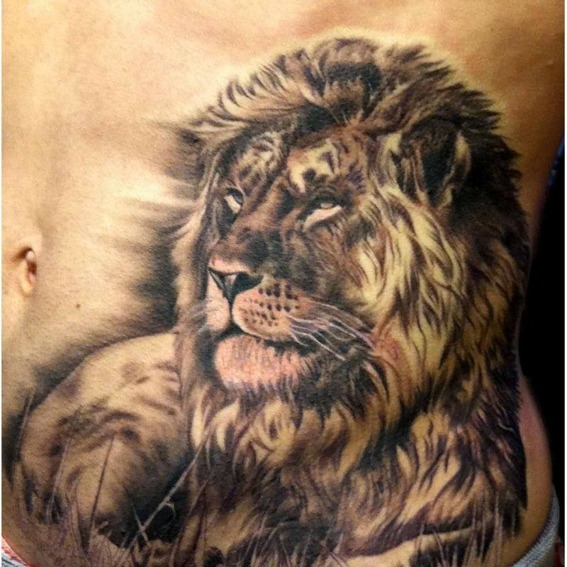 lion side tattoos for women - 800×800