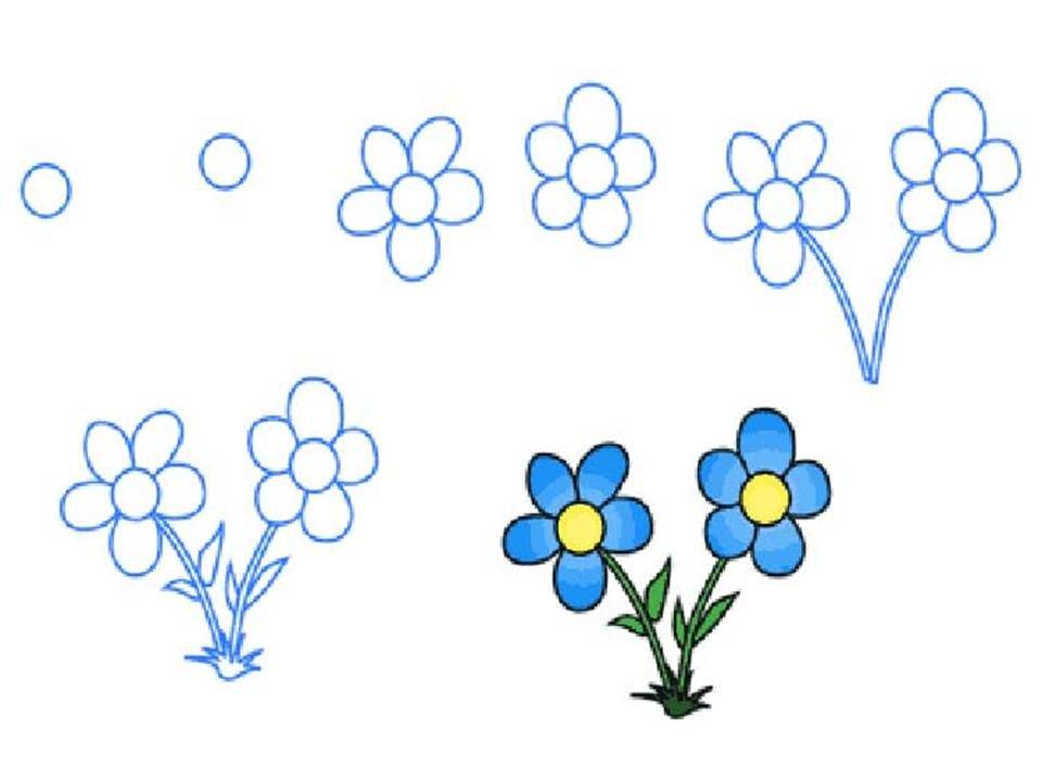 Своими руками, как нарисовать цветок на открытке