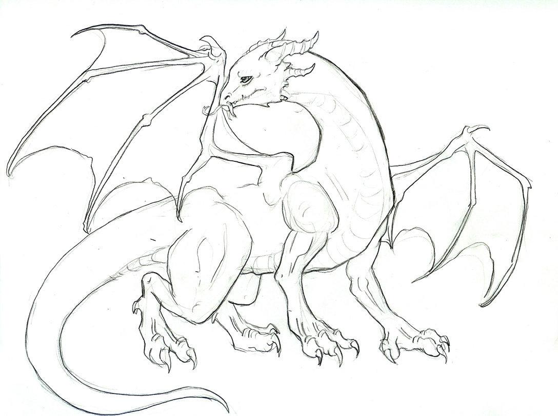 Картинки для начинающих карандашом драконов