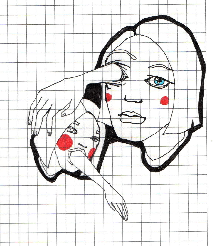 Стиле музыки, рисунки в тетради в клеточку ручкой прикольные