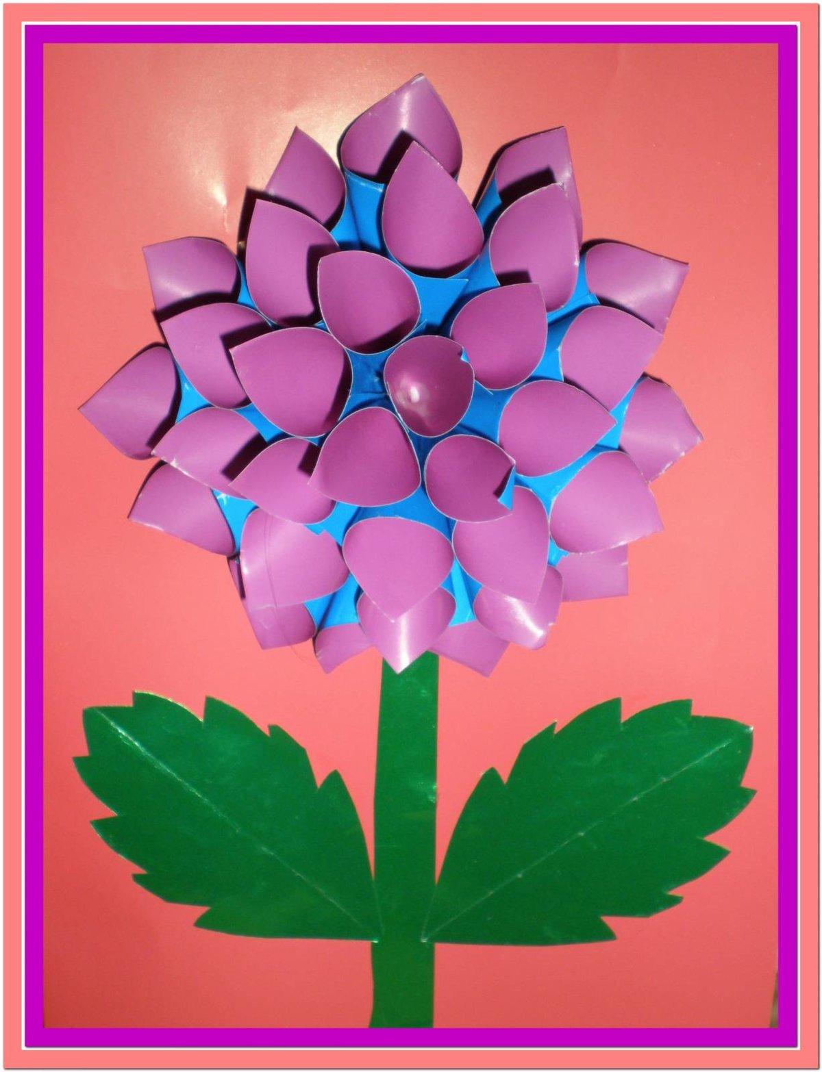 Цветок из цветной бумаги для открытки своими руками, спасибо поздравления мерцающие