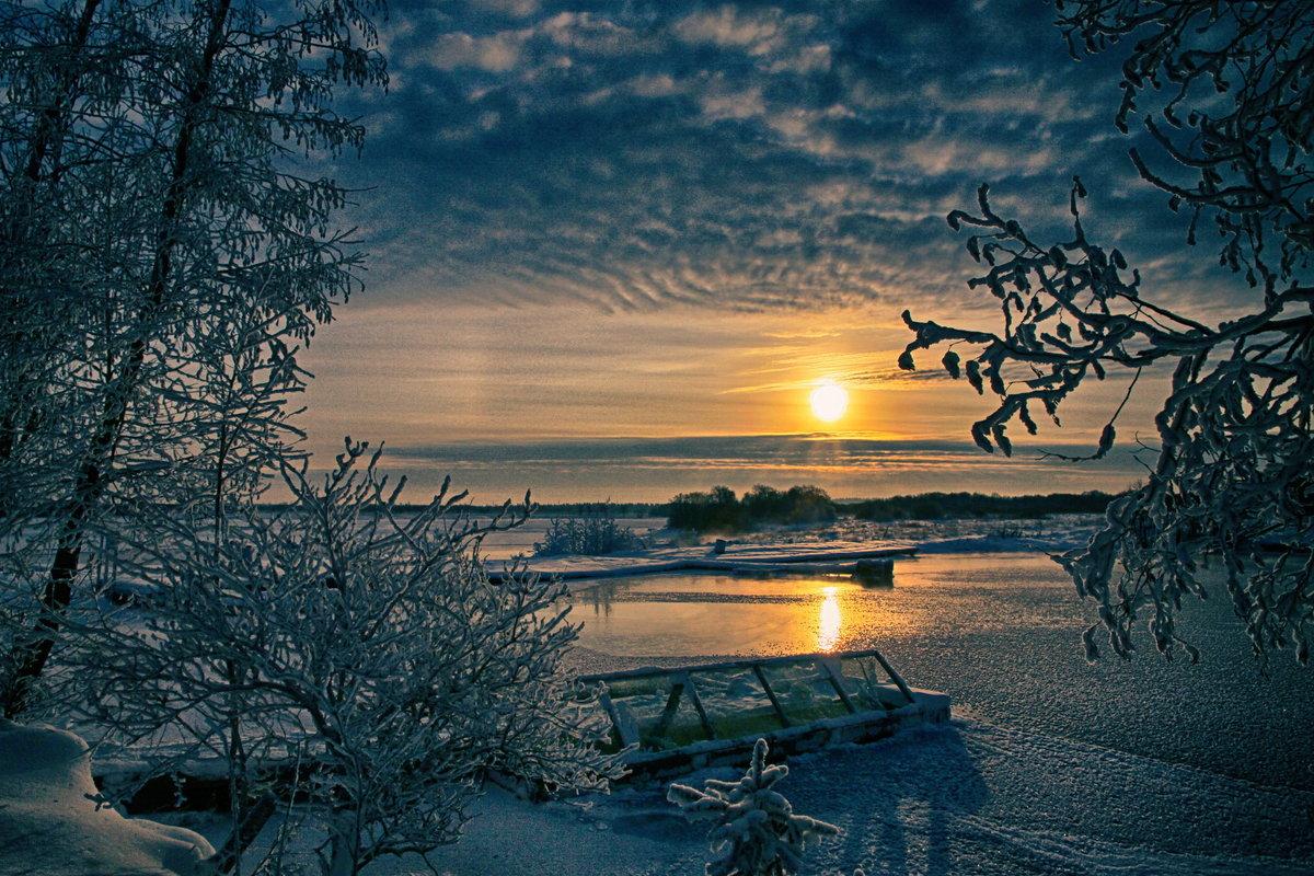 Картинки вечер зимы