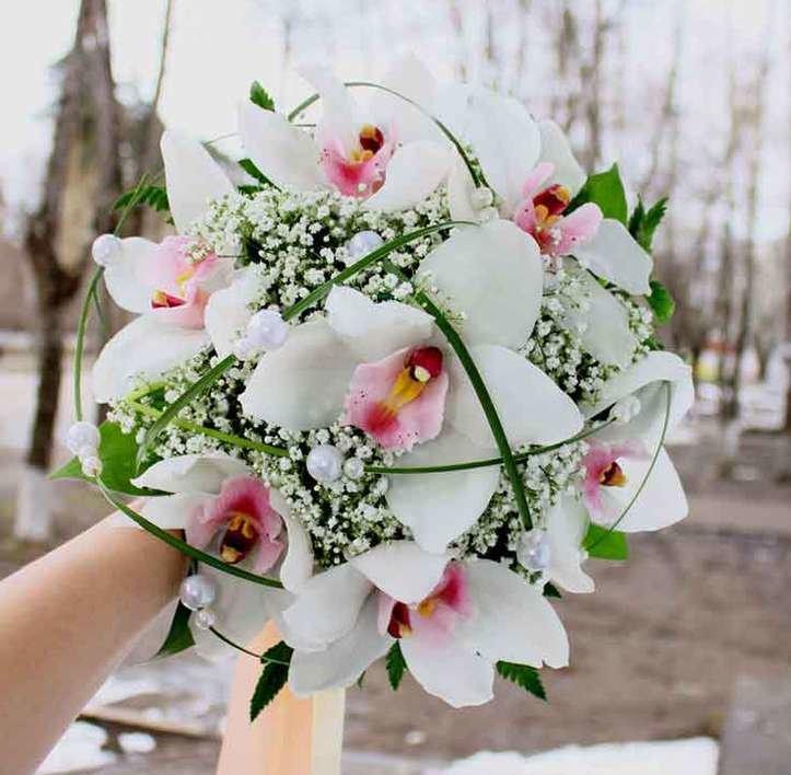 Каталог букет из орхидей для невесты