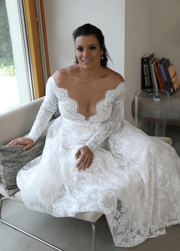 свадебные платья для грудастых стала сосать