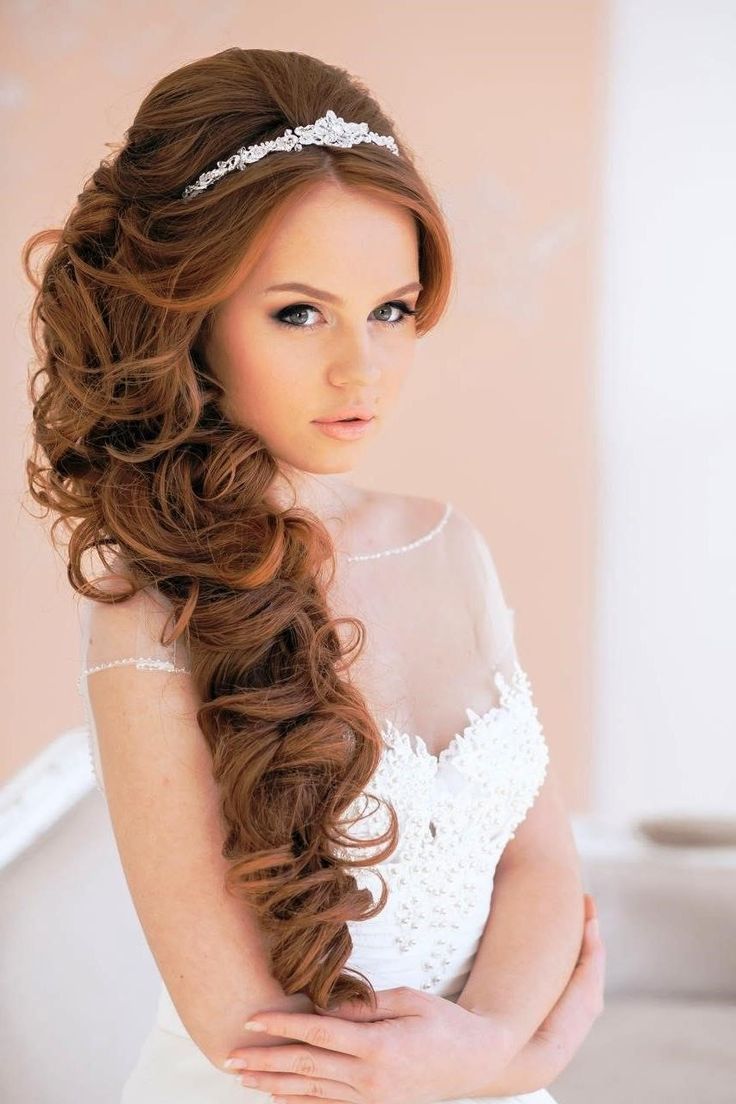 Best hairstyle for princess wedding dress
