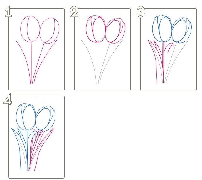 никто как нарисовать цветы открытки поэтапно теперь
