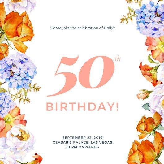 Картинках, открытка пригласительные на юбилей 50 лет