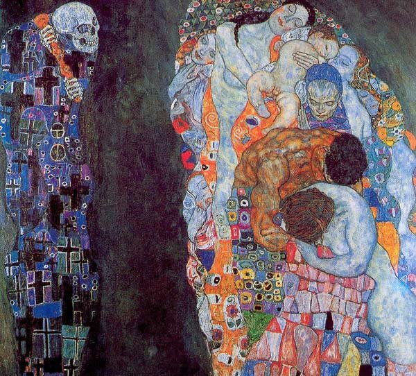 gustav klimts death and life Gustav klimt called death and life his most important figurative painting he fussed over this work, changing the background from gold to green-gray four years after it was first exhibited.