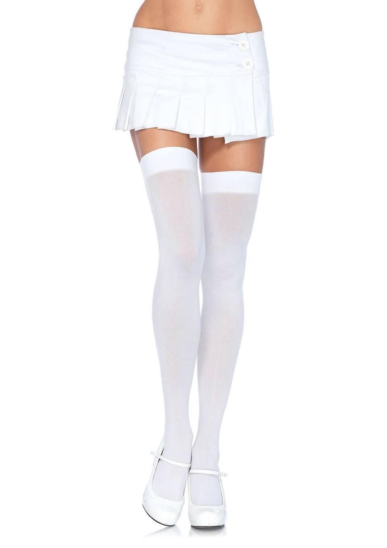 Белая юбка белые чулки, жену большим членом