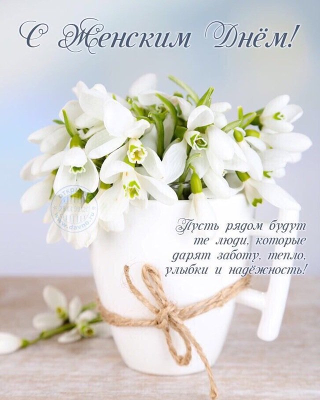 Картинка цветы поздравления 8 марта
