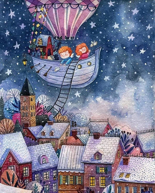 Народных, рождественские исторические открытки