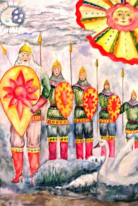 Картинки тридцать три богатыря для срисовки, открытки оформление прикольная