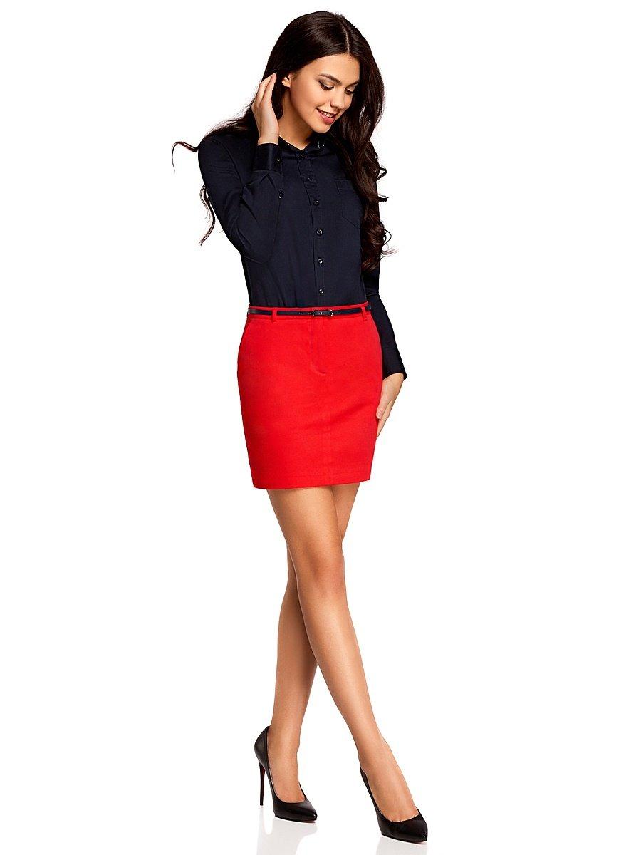 девушка в красном юбке фото эротики