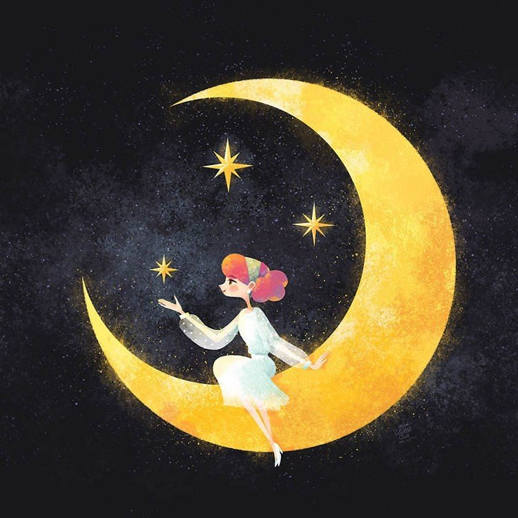 Кусочек луны открытки, афоризмами