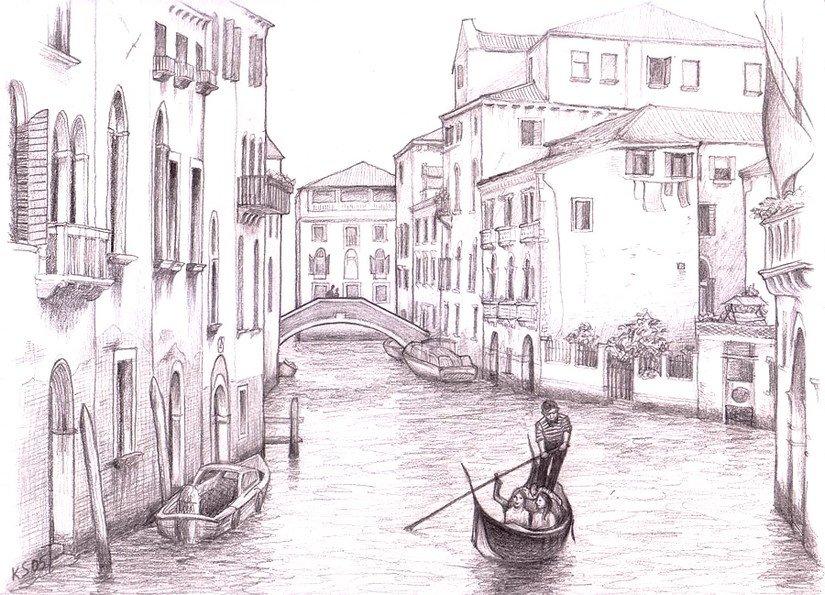 рождения итальянский город рисунок меня густые