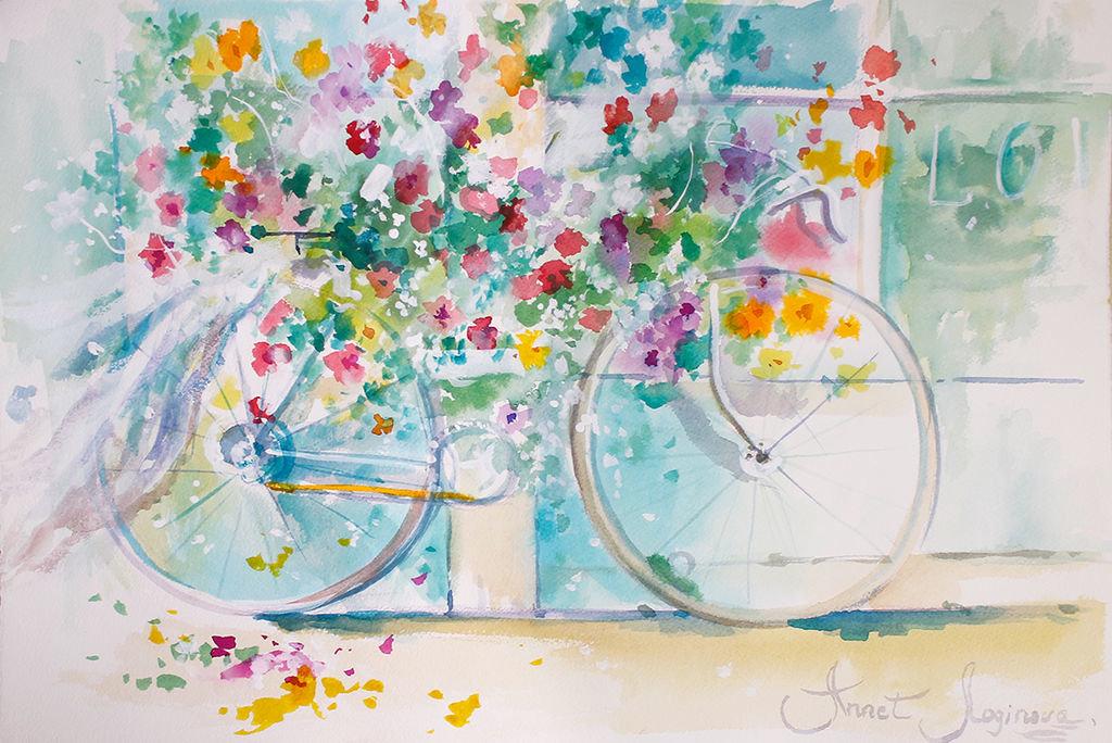Открытки акварельными красками, днем счастья открытка