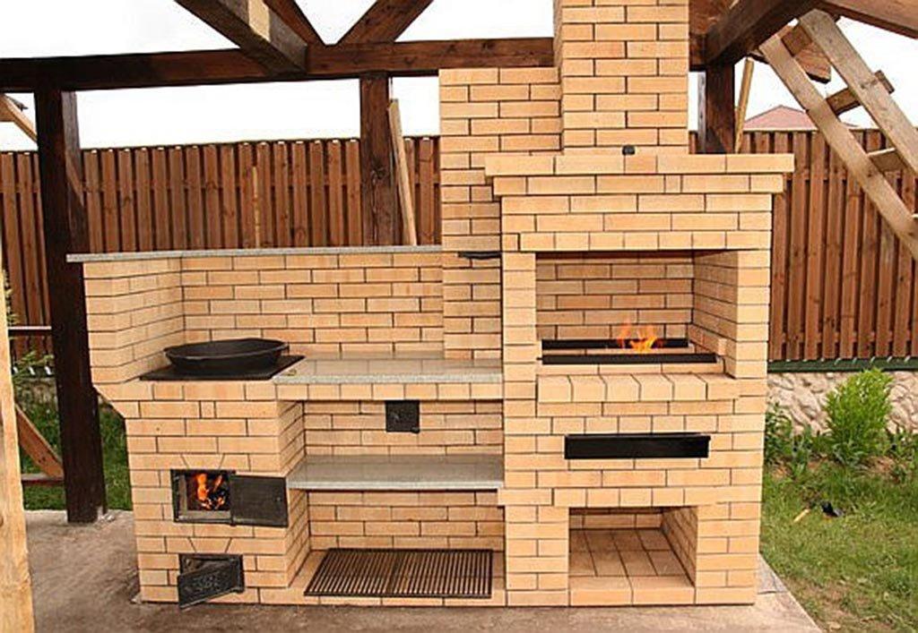 как построить печку барбекю