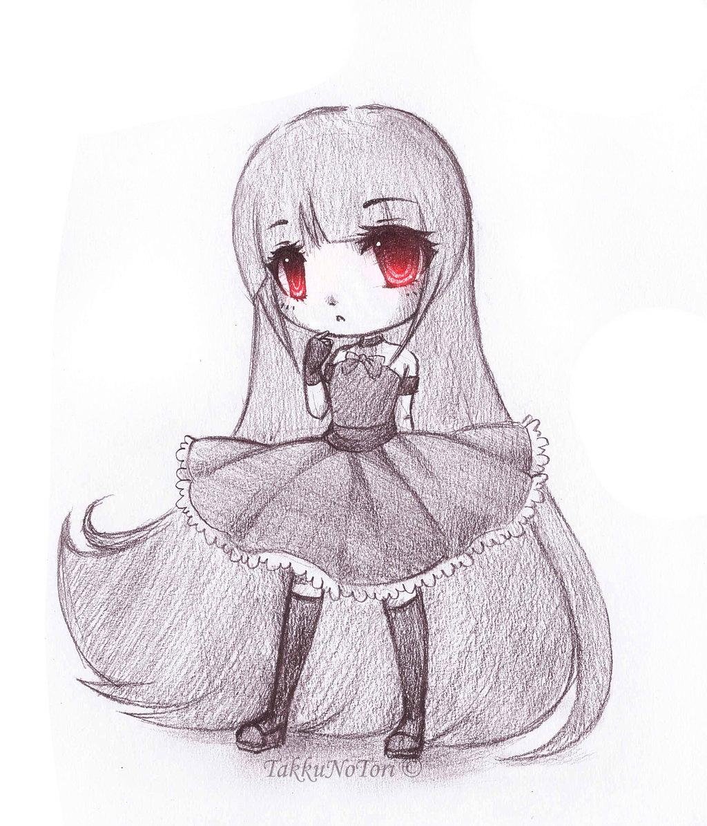 Cute Chibi Anime Drawings Pencil Art Drawing Card From User