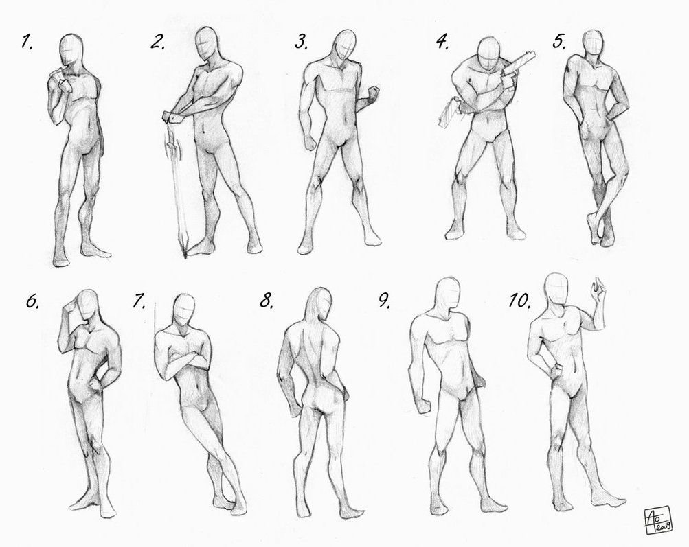 anime male poses