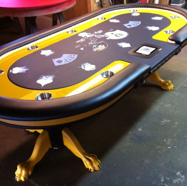Superbe Custom Poker Table Felt Uk Tables Raiders Canada Made Australia