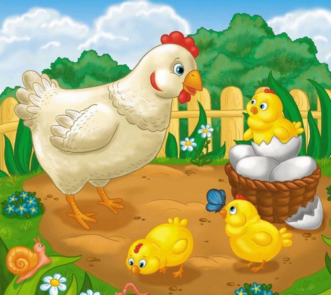 Курочка с цыпленком картинки для детей