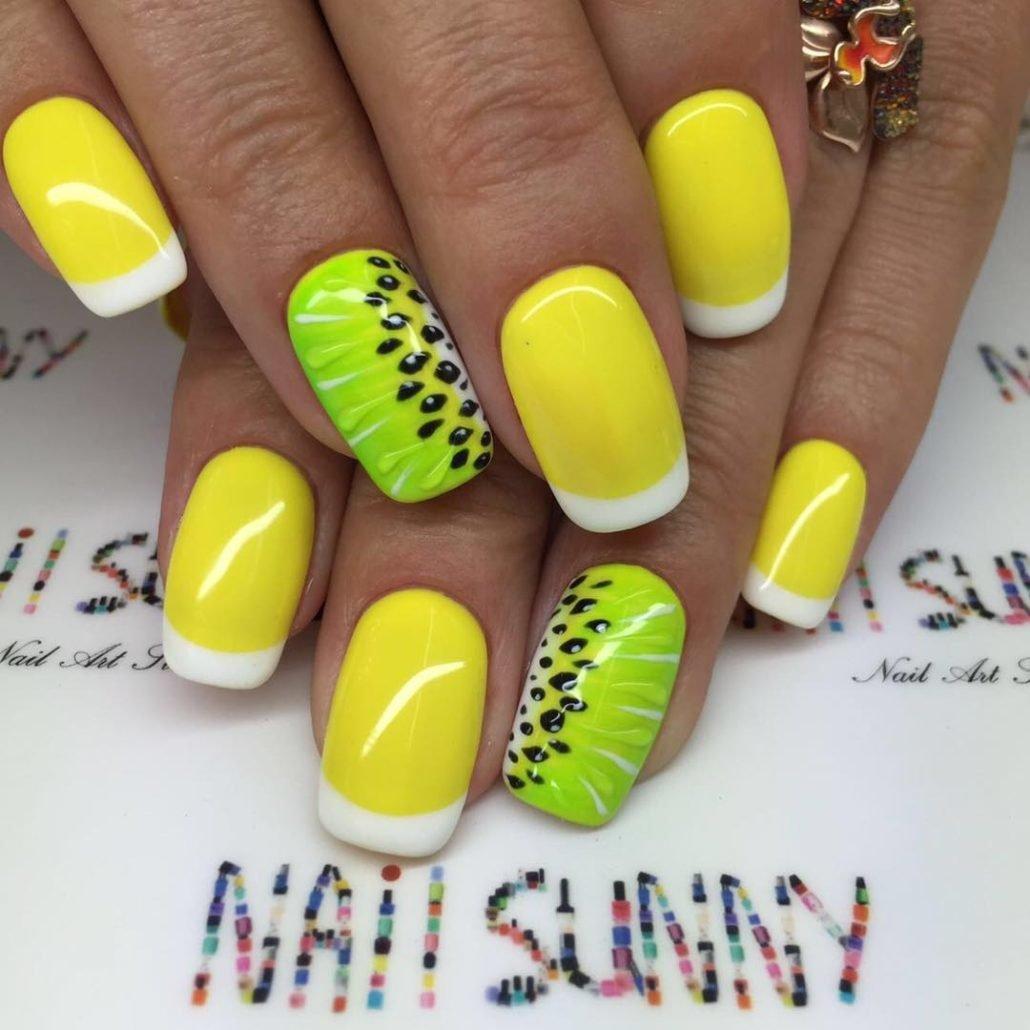 дизайн ногтей на короткие ногти лето 7