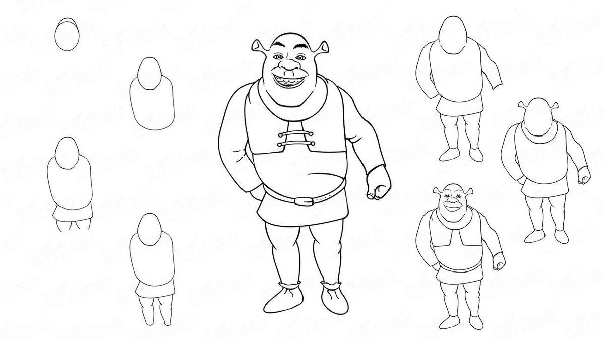Рисуем персонажей из мультиков поэтапно