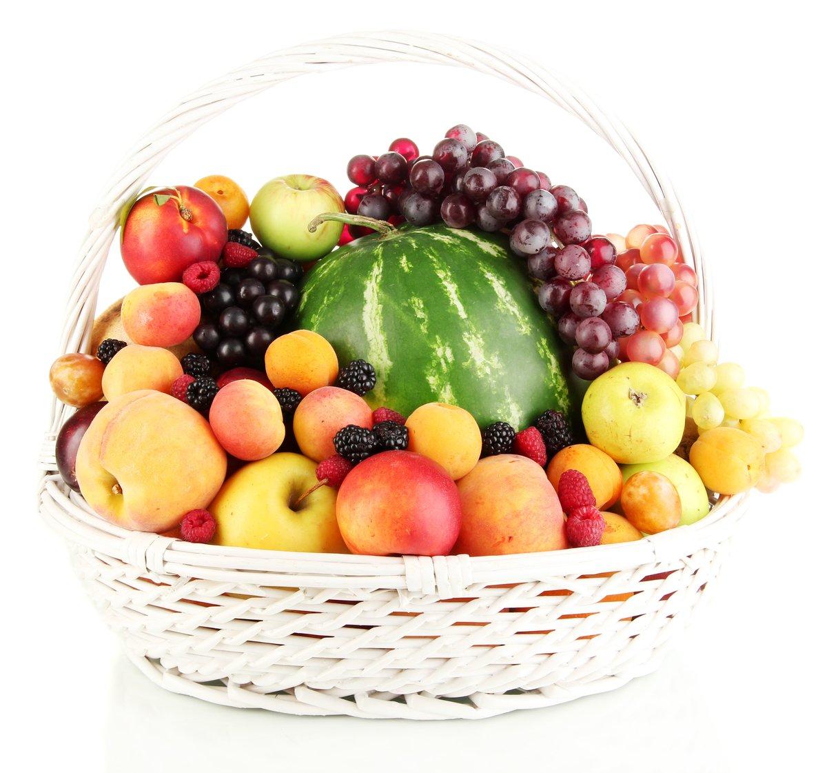 картинка корзинка с фруктами народном творчестве