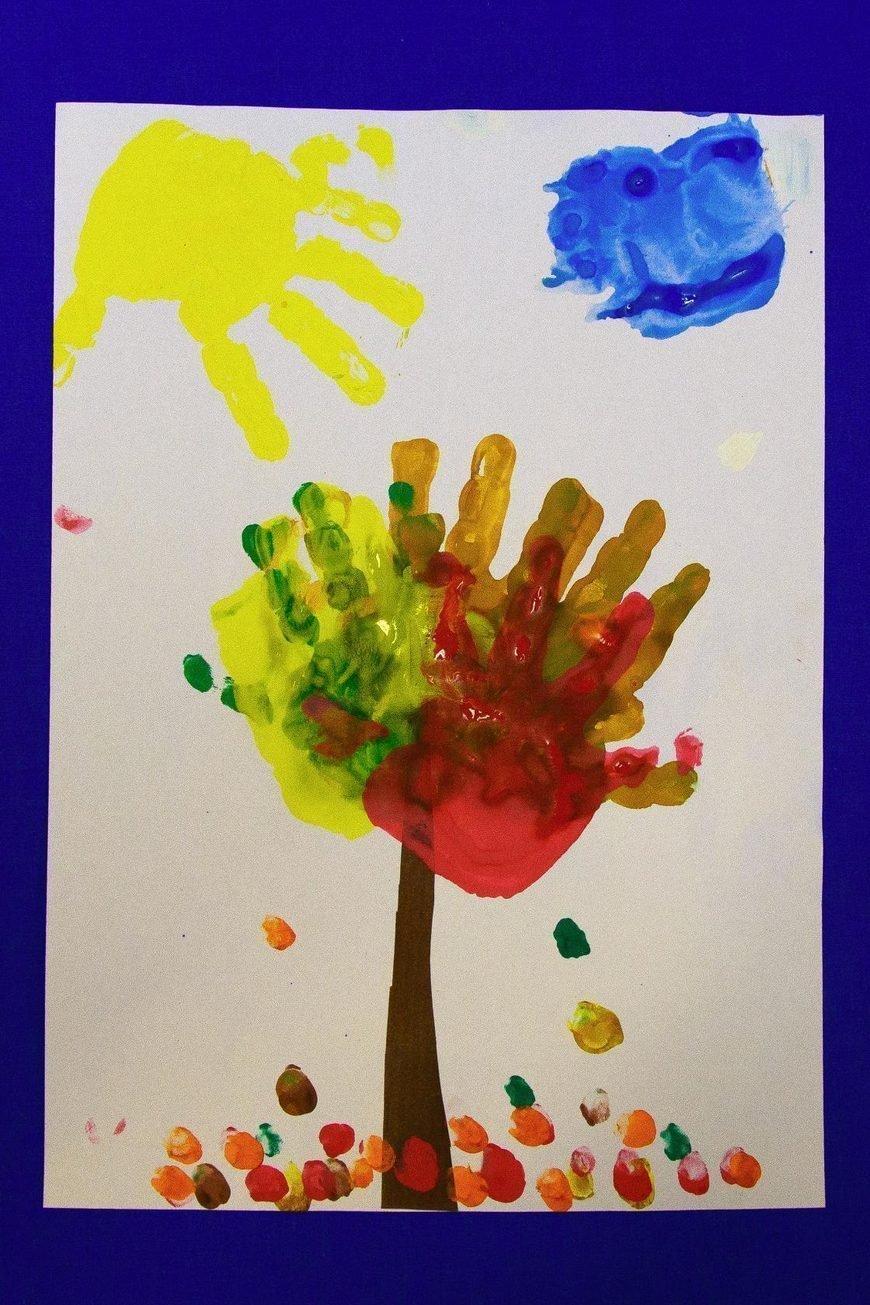 Смыслом, рисование ладошками для детей 2-3 лет картинки