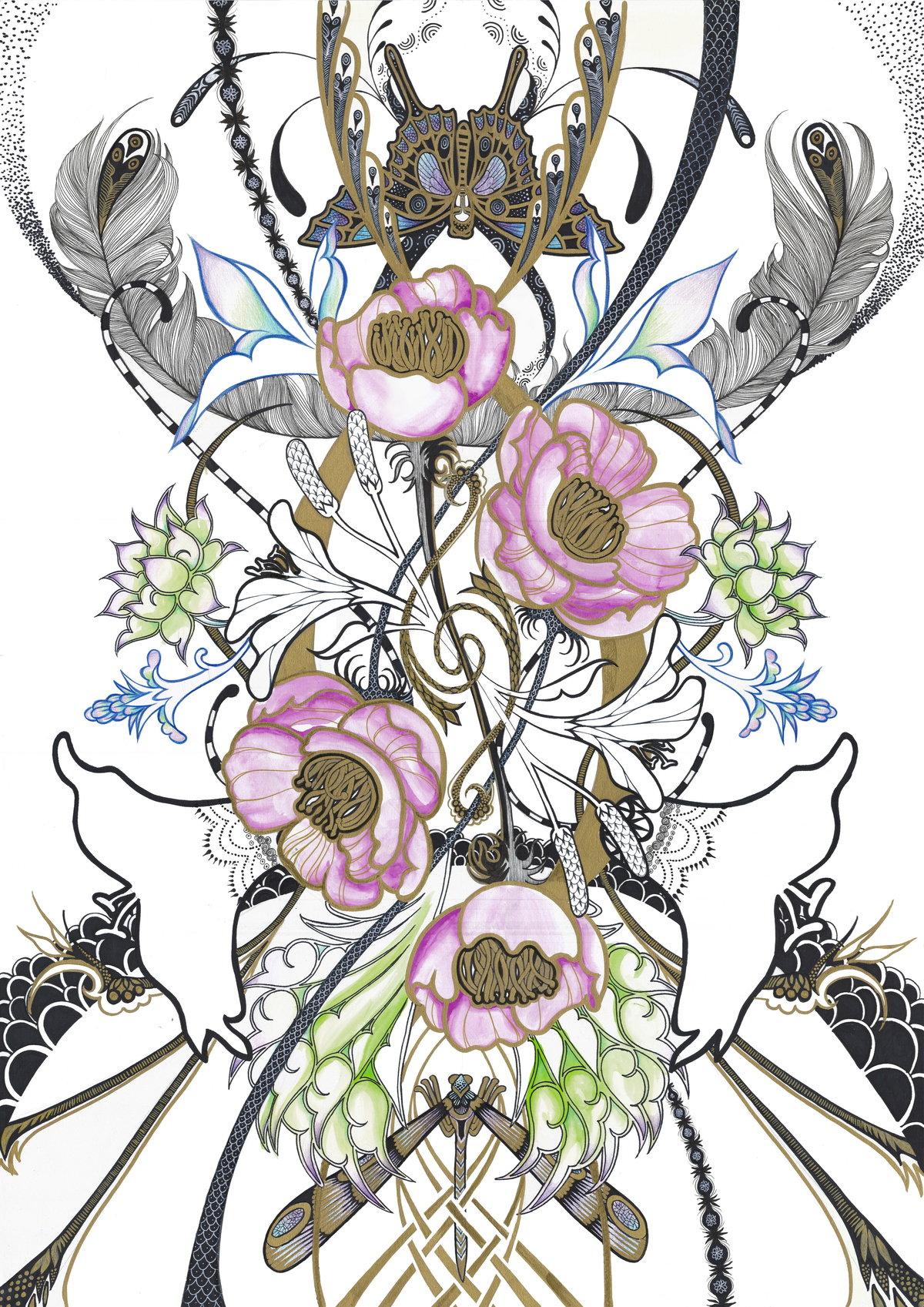 Надписями, розы арт-нуво картинки