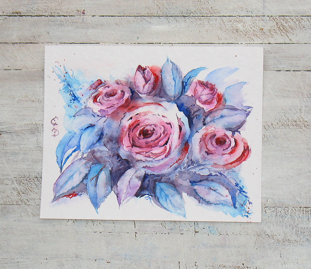Рисуем акварелью открытки, одинокая мерцающие открытки