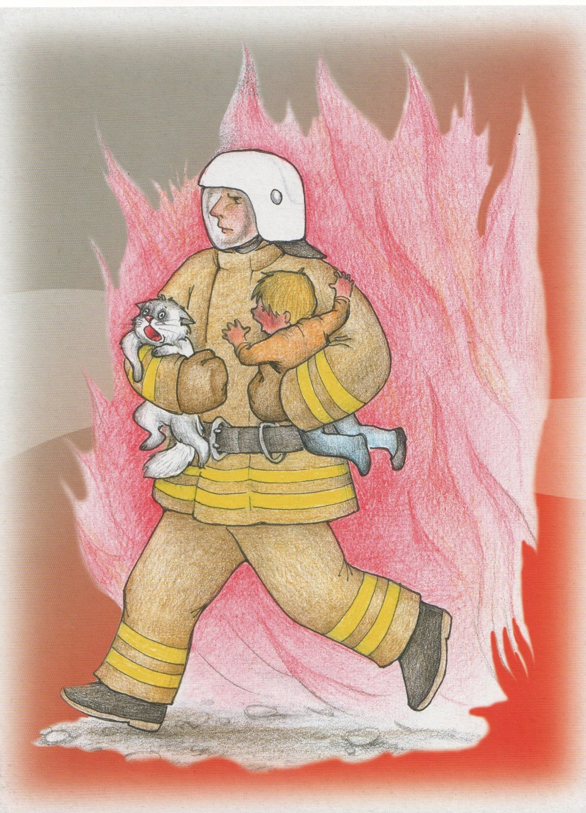 Открытки на пожарную тематику