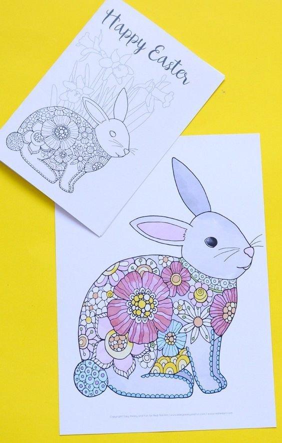 Пасхальная открытка рисунок цветными карандашами