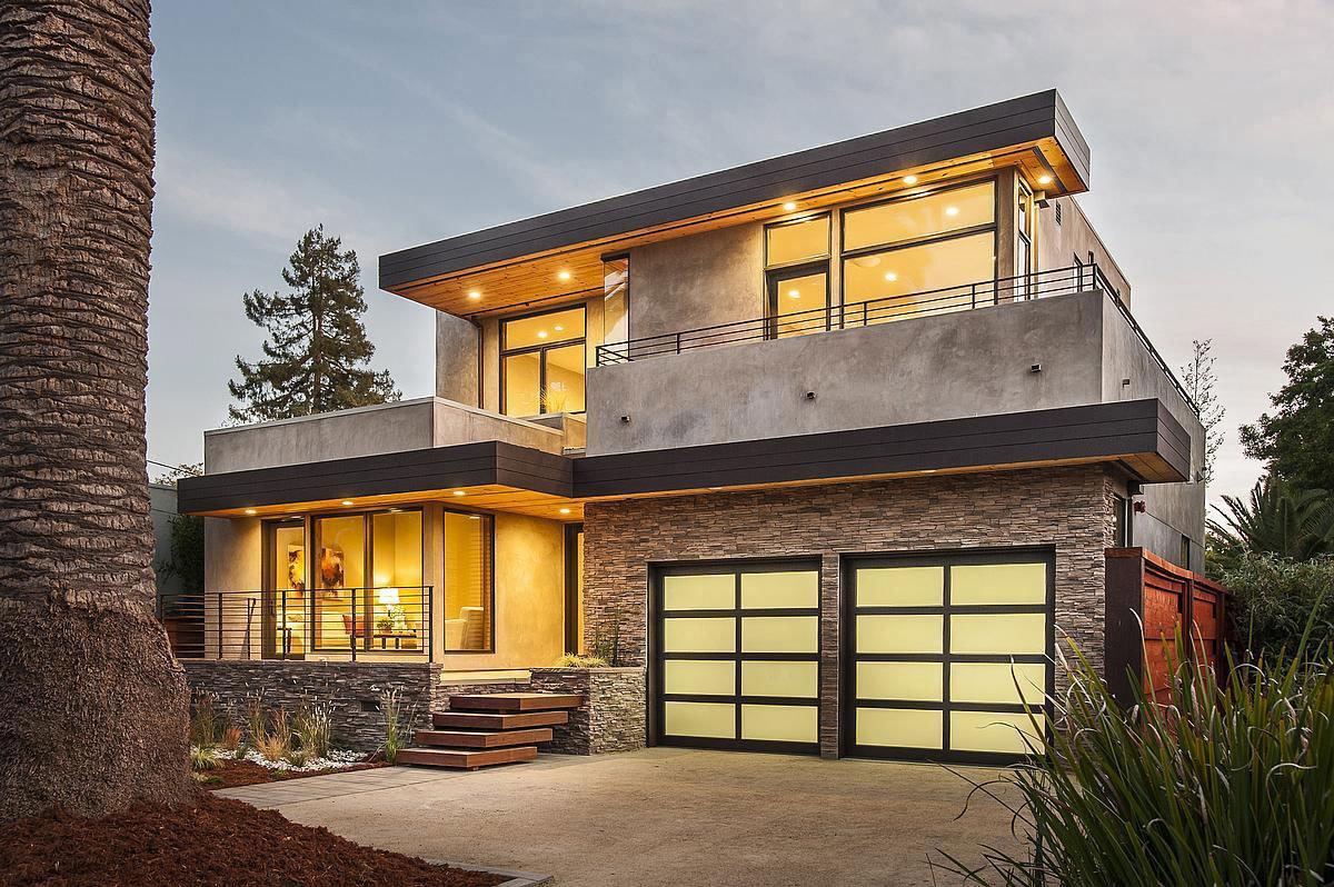 Красивые дома в стиле модерн фото