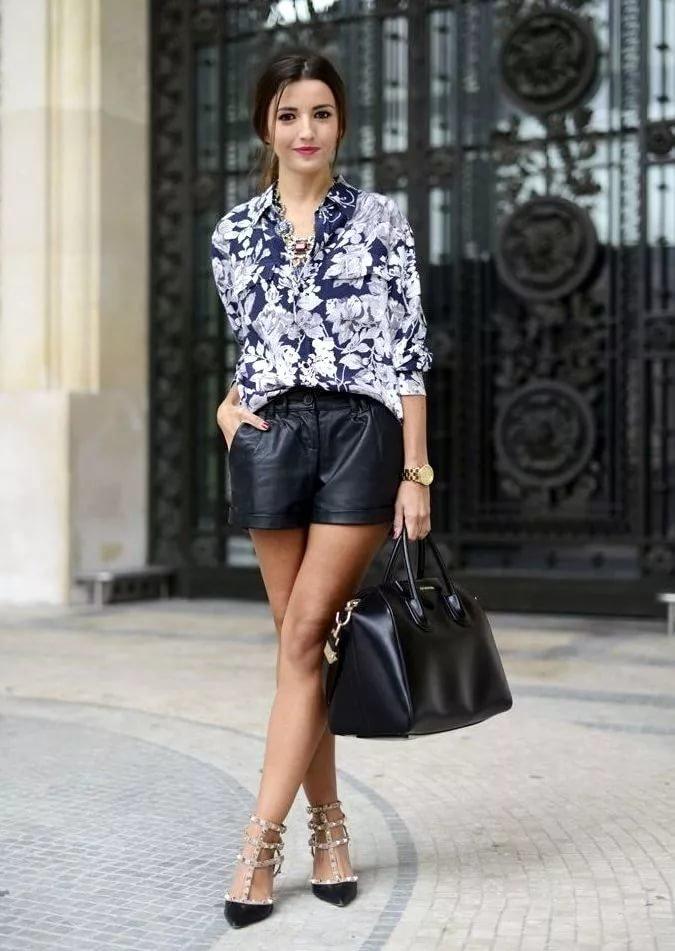 хочется черные шорты женские с чем носить фото достал