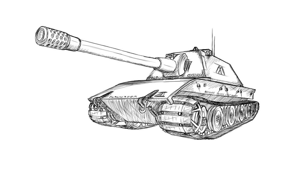 срисовать картинки танки заполнения