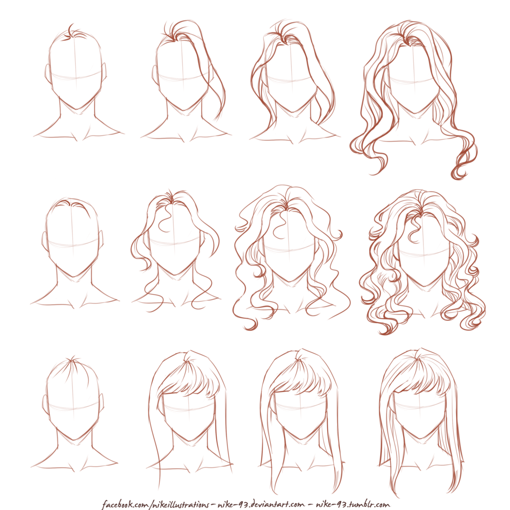 Hairstyle Drawing Reference Images New Hairstyles Update