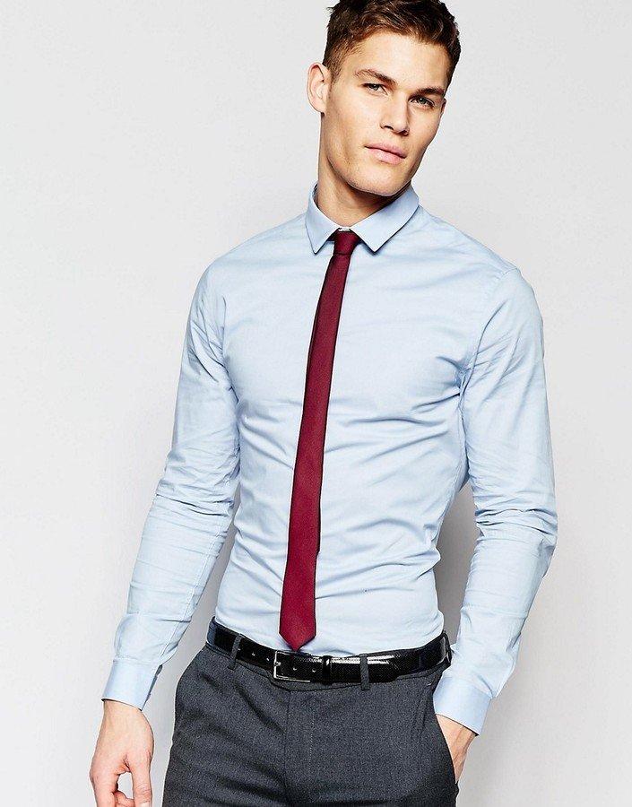 Какой галстук под бордовую рубашку фото