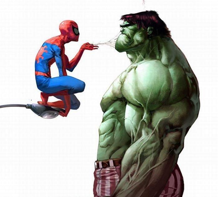 Приколы картинки супергероев, днем