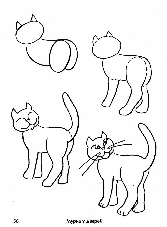 данный рисуем котят по картинке легко моется