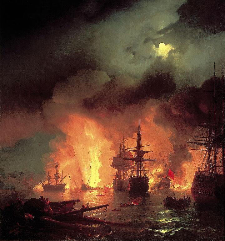 7 июля 1770 г. Во время русско-турецкой войны 1768-1774 годов произошло Чесменское сражение