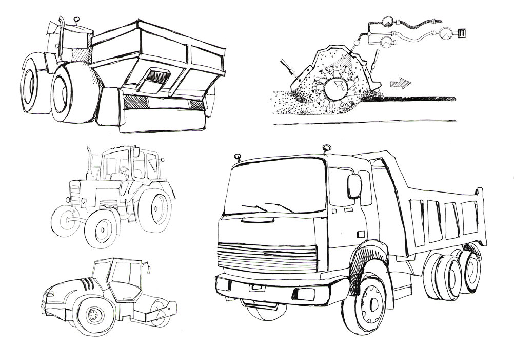 рисунки тракторы и комбайны камазы выбор