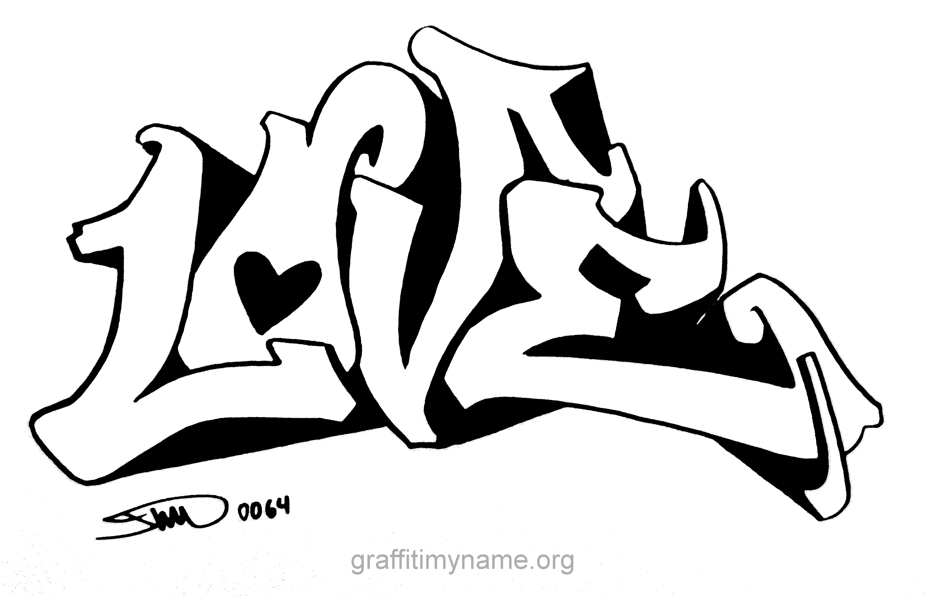 I Love You Graffiti Coloring Pages Cute Coloring Card From User