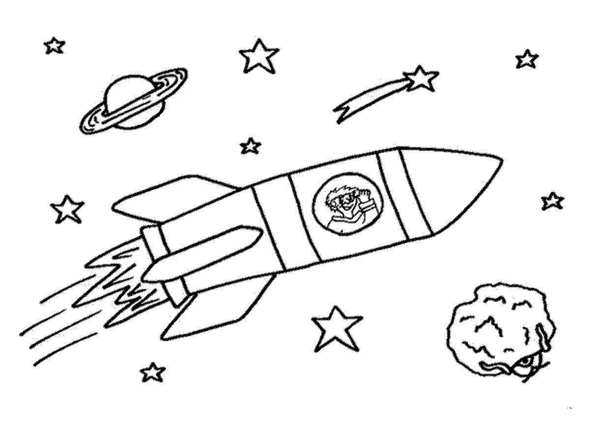 Открытки без, картинки для детей ко дню космонавтики раскраски