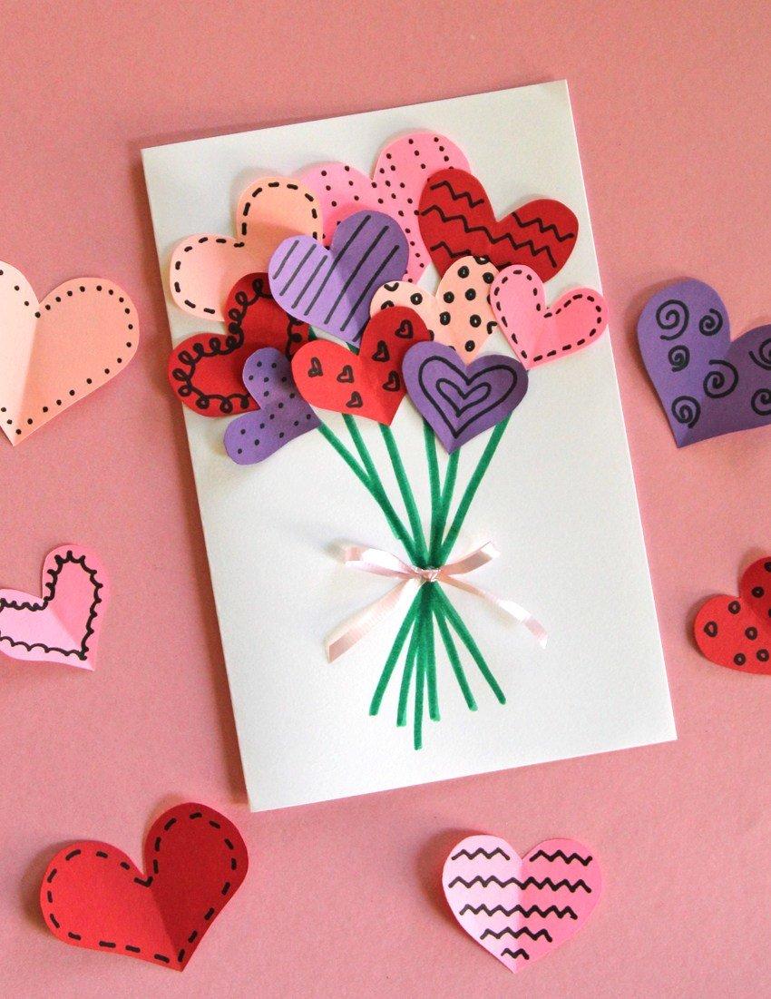 Как сделать из бумаги красивую открытку маме, спасибо